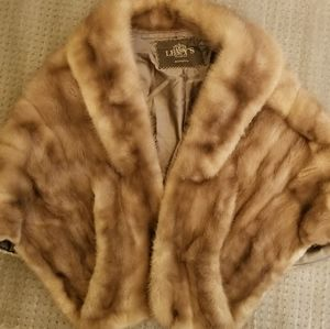 Vintage 50s 60s Levy's real fur wrap